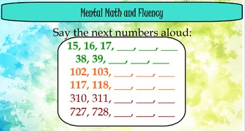 Everyday Math Unit 1 (New Edition)