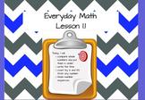 Everyday Math (Unit 1) Promethean Flip Chart - Lesson 1.1