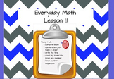 Everyday Math (Unit 1) Promethean Flip Chart - Lesson 1.1