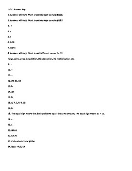 Everyday Math Unit 1 Review