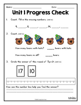 Everyday Math Unit 1 Review, Homework, Test (Common Core Aligned)