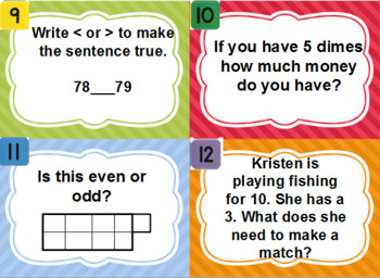 Everyday Math Unit 1 Scoot review