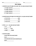 Everyday Mathematics Unit 1 Test Review for Common Core 20