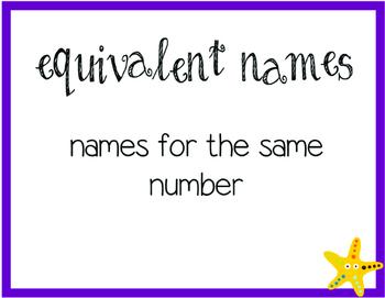 Everyday Math Unit 1 Vocabulary Cards