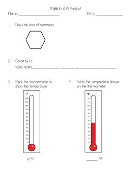 Everyday Math Unit 10 Pretest