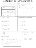 Everyday Math Unit 10 Review Sheets