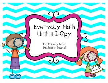 Everyday Math Unit 11 I-Spy Game for 2nd grade