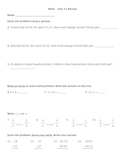 Everyday Math - Unit 11 Review Worksheet