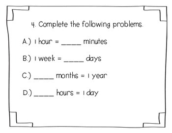 Everyday Math Unit 12 I-Spy Game for 2nd grade