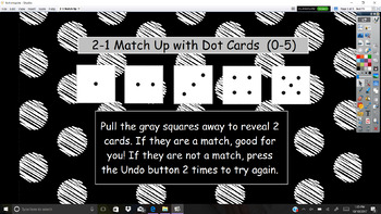 Everyday Math Unit 2 1 Match Up With Dot Cards By Kreative