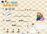 Everyday Math Unit 2 Morning Math SMARTBoard