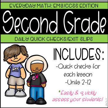 2nd Grade: Everyday Math Daily Quick Checks (GROWING BUNDLE)