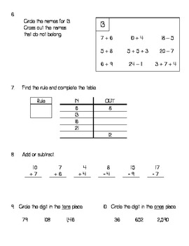 Everyday Math Unit 2 Review