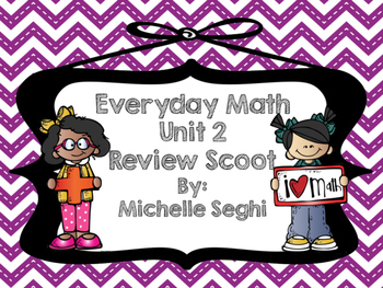 Everyday Math Unit 2 Review Task Cards (Scoot)