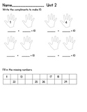 Everyday Math Unit 2 Test First Grade
