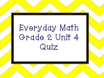 Everyday Math Unit 4 Grade 2