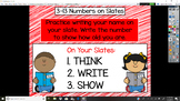 Everyday Math Unit 3 - 13 Numbers on Slates