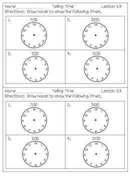 Everyday Math Unit 3 Exit Tickets and Starred Items Assessments