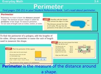 2007 EDITION. Unit 3 Lessons {Bundled Pack} Everyday Math. Grade 3