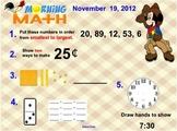 Everyday Math Unit 3 Morning Math SMARTBoard