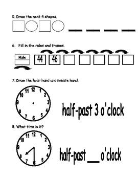 Everyday Math Unit 3 Pre-Assessment