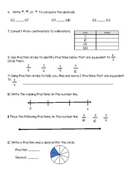 Everyday Math Unit 3 Review Guide