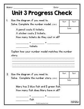 Everyday Math Unit 3 Review, Homework, and Test (Common Core Aligned)