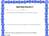 Everyday Math Unit 3 Study Guide