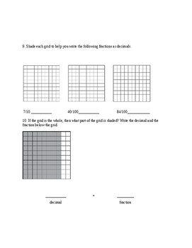 Everyday Math Unit 3 Study Guide-4th Grade