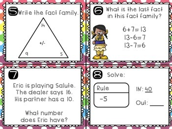 Everyday Math Unit 3 Task Cards (Scoot)