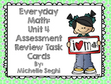 Everyday Math Unit 4 Task Cards (Scoot)