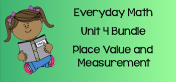 Everyday Math Unit 4 BUNDLE