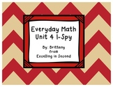 Everyday Math Unit 4 I-Spy Game for 2nd grade