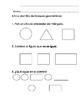 Everyday Math-Unit 4 Kindergarten Exit Slips in Spanish