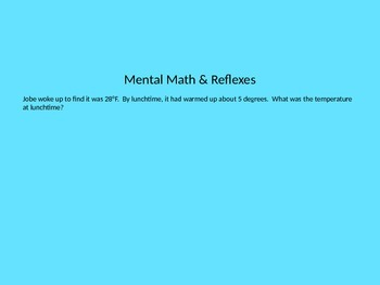 Everyday Math Unit 4 Lesson 3 First Grade PowerPoint