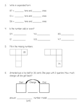 Everyday Math Unit 4 Pretest
