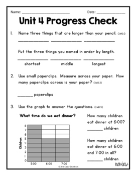 Everyday Math Unit 4 Review, Homework, Test (Common Core Aligned)
