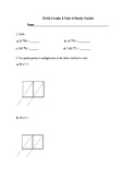 Everyday Math Unit 4 Study Guide