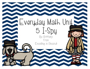 Everyday Math Unit 5 I-Spy Game for 2nd grade