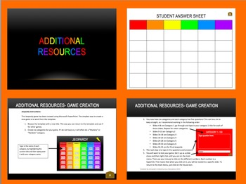 Everyday Math 3rd Grade Unit 5 Jeopardy Review by Amanda's Adventurous Education