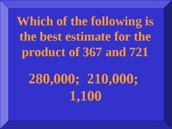 Everyday Math Unit 5 Jeopardy review