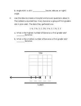 Everyday Math Unit 5: Mid-Unit Assessment