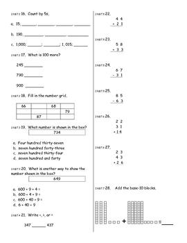 Everyday Math Unit 5 Mixed Common Core Skills Test