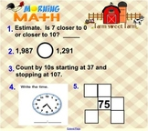 Everyday Math Unit 5 Morning Math SMARTBoard