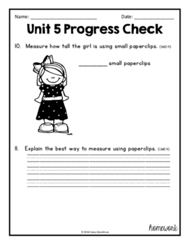 Everyday Math Unit 5 Review, Homework, Test (Common Core Aligned)