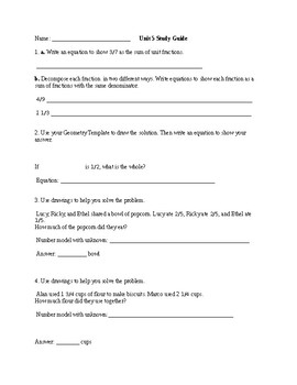 Everyday Math Unit 5 Study Guide