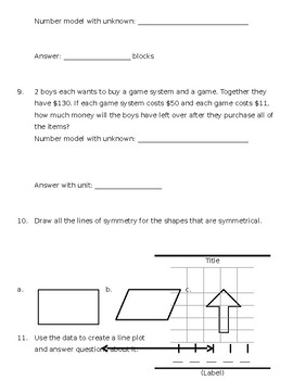 Everyday Math Unit 5: Study Guide