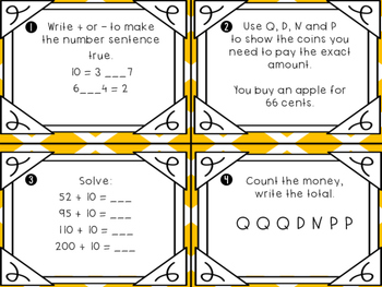 Everyday Math Unit 5 Task Cards (Scoot)