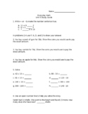 Everyday Math Unit 5 Test Study Guide/Pretest