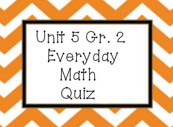 Everyday Math Unit 5 grade 2